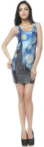 Van Gogh Starry Night Bodycon Dress