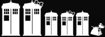 Doctor Who Tardis Family Window Decals
