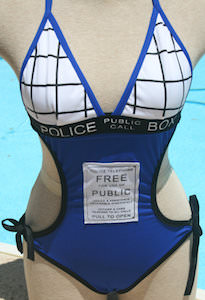 Doctor Who Tardis One Piece Bathing Suit