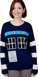 Doctor Who women's Tardis sweater