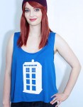 Dr. Who Blue Tardis Tank Top