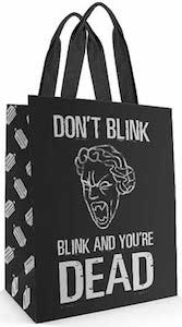 Doctor Who Weeping Angel Blink And You're Dead Tote Bag