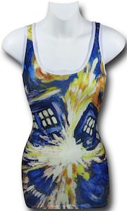 Exploding Tardis van Gogh tank top from Dr.Who