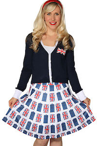 Doctor Who Tardis And Union Jack Skirt