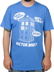 Doctor Who Knock Knock Joke T-Shirt