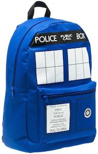 Dr. Who Blue Tardis Backpack
