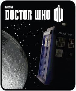 Dr. Who Tardis Moon And Space Blanket