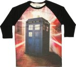 Tardis Time Warp Raglan Shirt