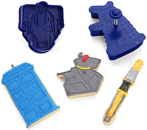Doctor Who 5 Piece Cookie Cutter Set