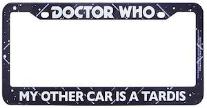 Dr. Who My Other Car Is A Tardis Licence Plate Frame