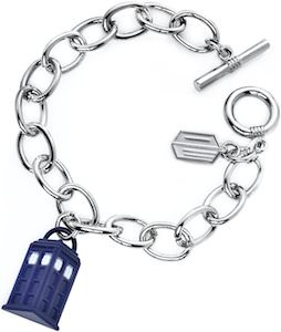 Doctor Who Logo And Tardis Charm Bracelet