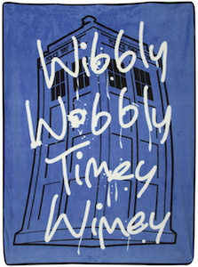 Doctor Who Wibbly Wobbly Timey Wimey Blanket