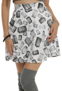 Doctor Who tonal tardis women's skirt