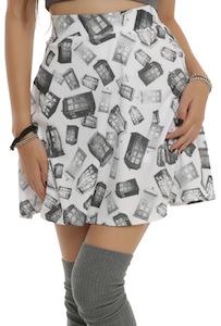 Doctor Who tonal tardis women's skirt