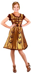 Doctor Who Gold Dalek Costume Dress