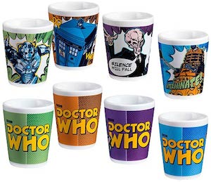 Doctor Who Mini Glass Set Of 4