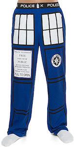 Dr. Who The Tardis Pajama Pants
