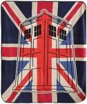 Dr. Who Union Jack Tardis Throw Blanket
