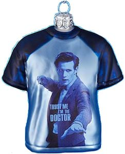 Dr. Who 11th Doctor T-Shirt Christmas Tree Ornament