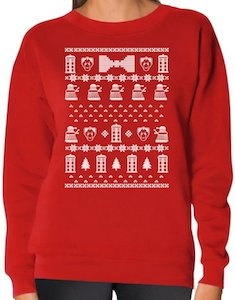 Doctor Who Womens Christmas Sweater In Many Colors