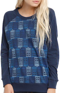 Dr. Who Tardis Pattern Women's Pullover