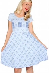 Doctor Who Tardis Knit Christmas Dress