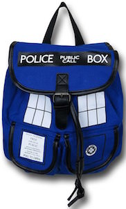 Dr. Who blue Tardis Knapsack