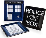 Dr. Who Doctor Who Tardis 4 Piece Square Plates