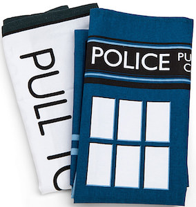 Dr. Who Tardis Tea Towel Set