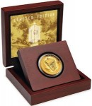 Dr. Who Tardis 2013 50th Anniversary Gold Coin
