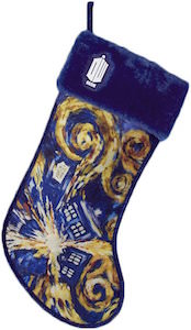 Exploding Tardis Christmas Stocking