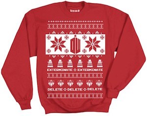 Dr. Who ugly Christmas sweater