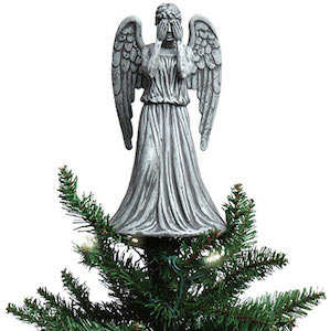Doctor Who Weeping Angel Christmas Tree Topper