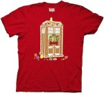 Doctor Who Red Gingerbread Tardis Christmas T-Shirt