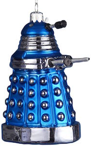 Doctor Who Blue Dalek Christmas Ornament