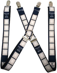 Dr. Who Tardis Police Box Suspenders