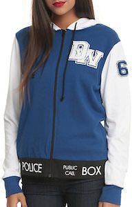 Doctor Who Women's Tardis Style Hoodie
