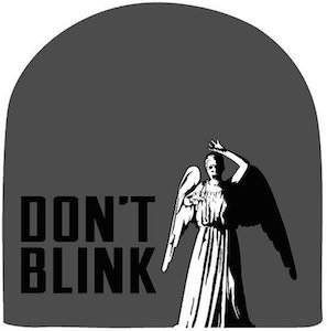 Doctor Who Weeping Angel Don't Blink Beanie Hat