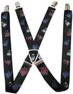 black Dalek suspenders from the Doctor