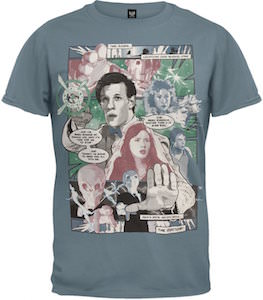 11th Doctor Who Comic Book T-Shirt