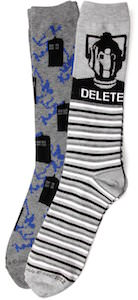 Doctor Who Cyberman And Tardis Socks