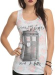 Doctor Who Floral Waiting For A Madman In A Box Tank Top
