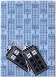 Doctor Who Light Blue Tardis Wrapping Paper