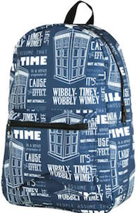 Tardis Wibbly Wobbly Timey Wimey Backpack