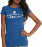 Doctor Who My Boyfriend Is A Time Lord Women's T-Shirt