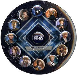 Dr Who pins and buttons (13 pieces)