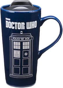 Doctor Who Tardis Ceramic Travel Mug
