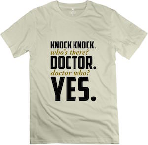 doctor who knock know who s there t shirt