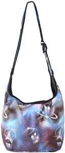 Dr. Who Tardis In Space Hobo HandBag