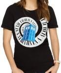Dr. Who Tardis falling through time t-shirt